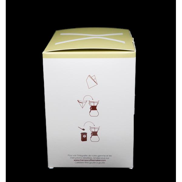 Chemex - Boîte de 100 filtres pour cafetière